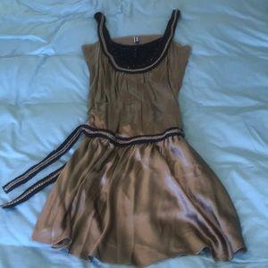 Jean Paul Gautier silk 1930's drop waist dress
